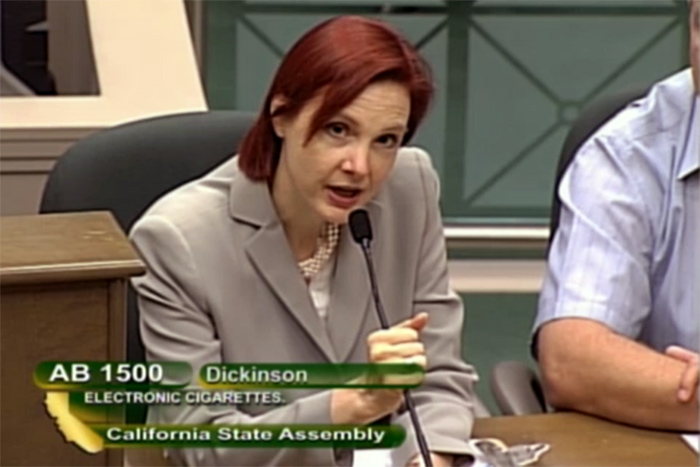Sallie Goetsch describes AB 1500 to the California Assembly Appropriations Committee as a solution in search of a problem on May 21, 2014