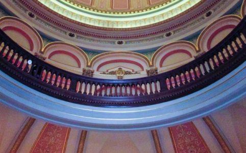 Balcony around the Capitol rotunda, Sacramento
